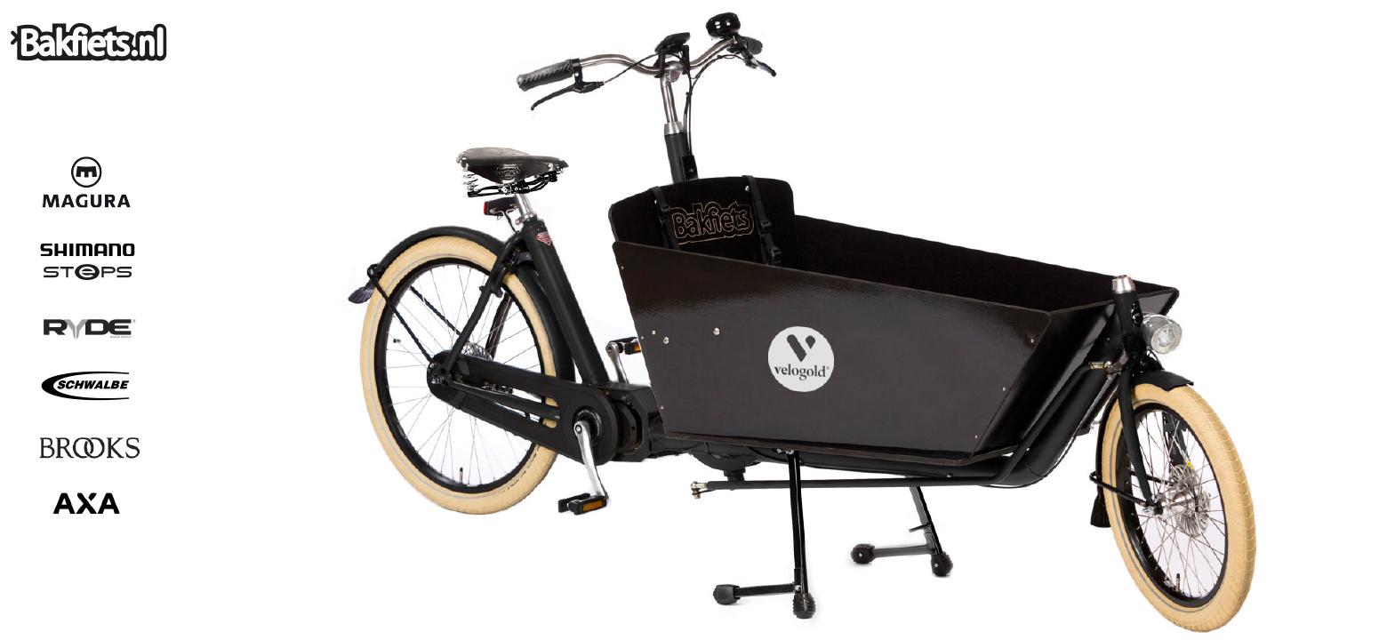 lastenfahrr der online kaufen e cargobike cruiser goldst ck steps velogold onlineshop. Black Bedroom Furniture Sets. Home Design Ideas